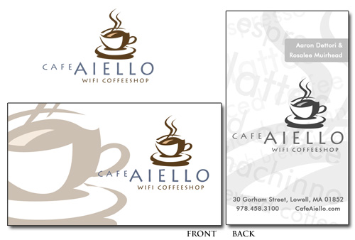 Cafe Aiello Business Card Design