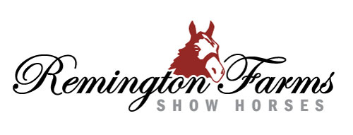 Remington Farms Show Horses Logo Design