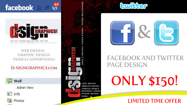 Social Media Marketing - Facebook and Twitter Page Design
