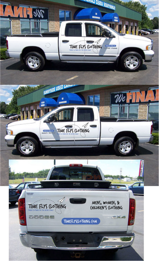 Time Flys Clothing - Dodge Ram Vehicle Lettering