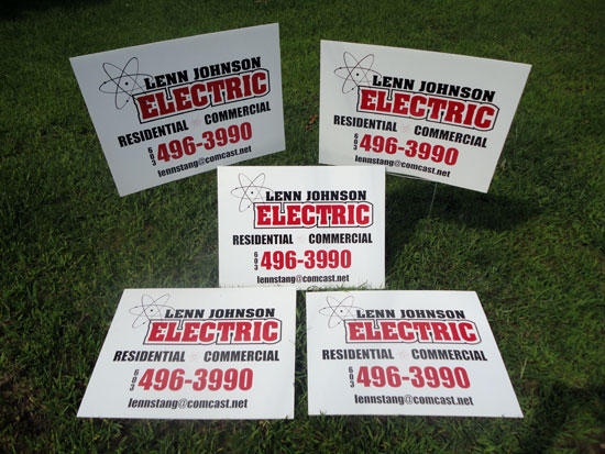 Custom Designed Vinyl Graphics Yard Signs