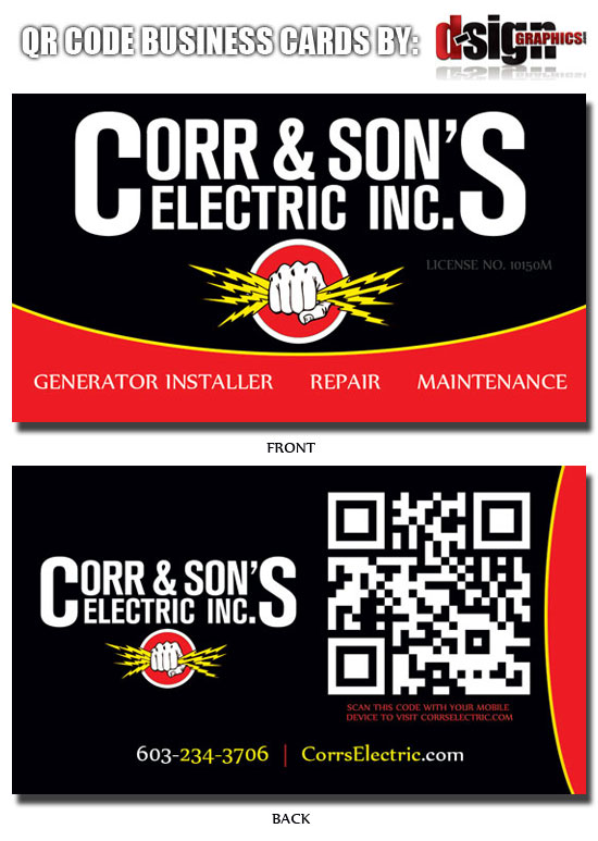 Custom QR Code Business Cards