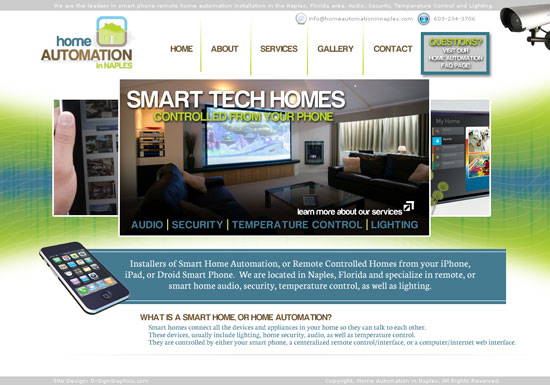 Smart Phone Remote Controlled Home Automation Website Design