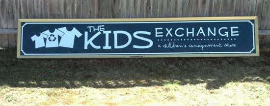 The Kids Exchange Vinyl Storefront Sign - Newport, NH