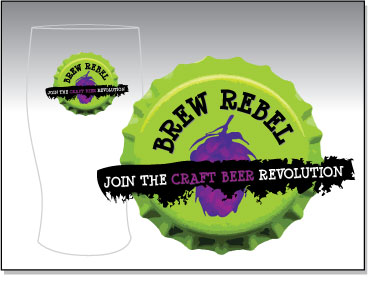 Brew Rebel - Custom Brewing Company Logo Design